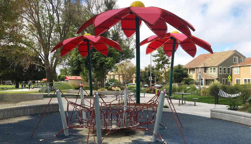 greenwood park in Hayward spider web structure