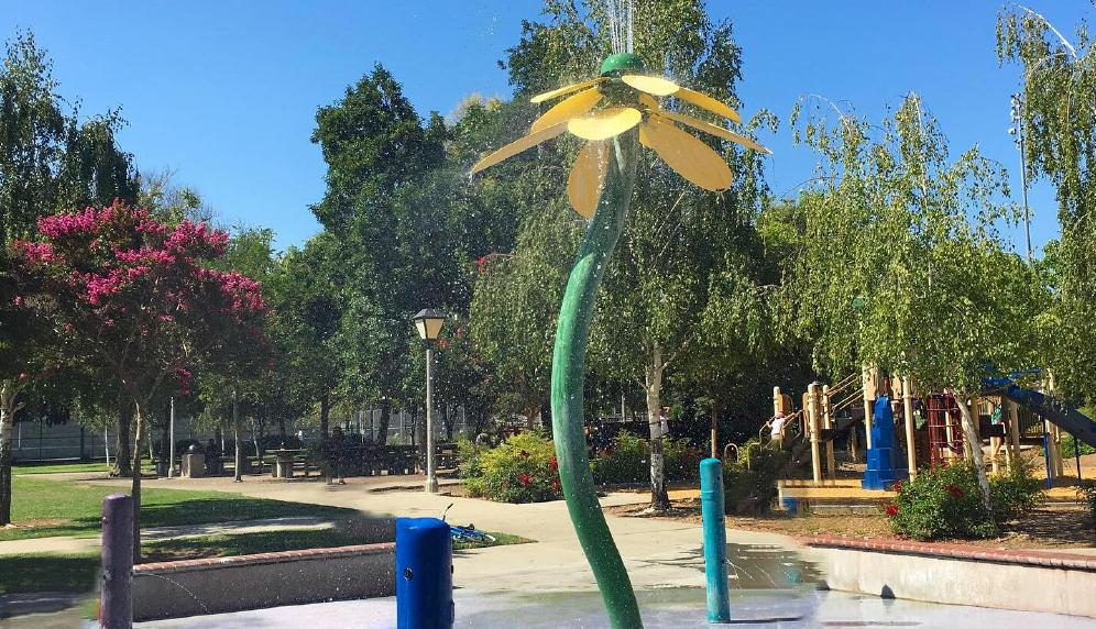Ortega park sunnyvale ca fountain